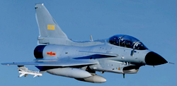 Chinese J-10 Aircraft like that which flew close to Taiwan over the Fromosa Strait