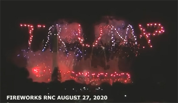 Fireworks after the GOP National Convention