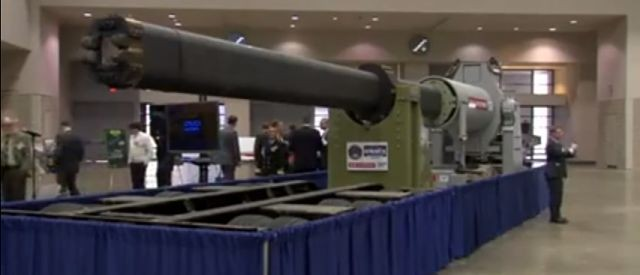 U.S. Navy's Big Rail Gun Revealed